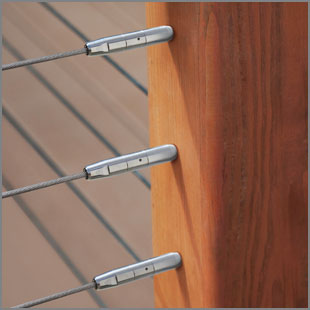Cablerail by feeney custom assemblies hardware for Garden decking rope fittings