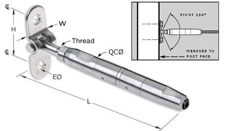 QuickConnect(R) Sleekline Surface Mount Turnbuckle
