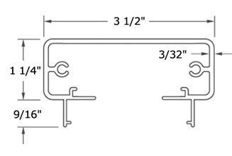 Rectangular Top Rail for DesignRail®
