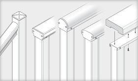 DesignRail: Cap Rail options