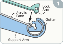 Click-Lock diagram, step 1