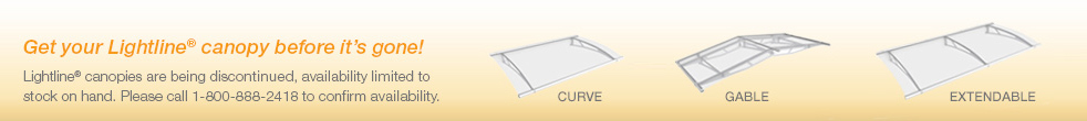 Get your Lightline canopy before they're gone!